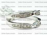 Clearance Size 9 White Gold Solitaire Enhancer Round Diamonds Ring Guard Channel