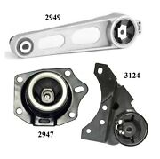 3pcs Front Motor And Trans Mount Fit 2002 Fits Chrysler Neon 2.0l - Auto Late