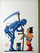Ken Steacy - Astro Boy Meets Robotic Father Time Color Cover - Large Art
