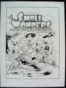 William Stout Cover For Frank Frazetta Funny Animals Book - Large Art