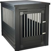 Crate For Dog End Table Kennel Cage Indoor Wooden Furniture Wood House Pet Bed