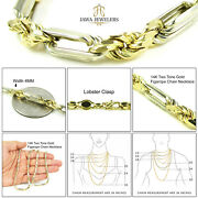 Mens Womens 14k Two Tone Gold 4mm Figarope Chain Necklace 18 - 24