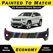 New Painted To Match Front Upper Bumper Cover For 2014-2016 Jeep Grand Cherokee