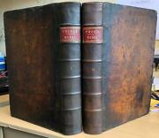Rare 1740 Two Folio Vols And039theological Works Of Edward Pocockand039 Bible Commentary