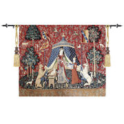 The Lady And Unicorn Medieval Fine Art Tapestry Wall - Scent 100 Cotton