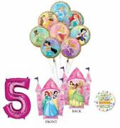 Disney Princess Party Supplies 5th Birthday Balloon Bouquet Decorations With ...