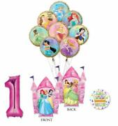 Disney Princess Party Supplies 1st Birthday Balloon Bouquet Decorations With ...