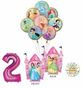 Disney Princess Party Supplies 2nd Birthday Balloon Bouquet Decorations With ...