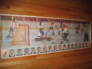Rare 1969 General Foods Post Cereal Power Play Goal Canadien Nhl Player Poster 1