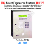 Keypad Tec1 Select Engineered Systems T1hf125 Electronic Telephone Directory