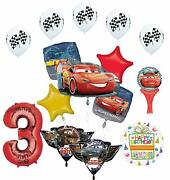 Cars Lightning Mcqueen And Friends 3rd Birthday Party Supplies Balloon Bouque...