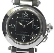 Pasha C Automatic Boys Ss / Leather From Japan [a1011]