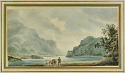 Pj Loutherbourg French Landscape Painting Watercolor On Paper 18th Century