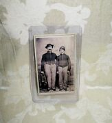 1860and039s Original Cdv Of Civil War Soldier With Tax Stamp On Backside