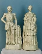 Antique Staffordshire Porcelain Figurines Of The King And Queen Of Prussia 1870