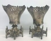 Antique Sterling Silver Pair Goblet Wine Cups Made In Ottoman Empire Turkey