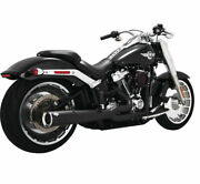 Vance And Hines 4.5 Pro Pipe 2-into-1 Black Exhaust 2018+ Fat Boy/breakout 47589