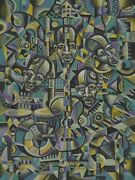 The Blues Band I - Original Music Painting From Africa