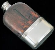 Beautiful Antique Gorham Sterling Silver Whiskey Flask Super Clean Half Pint