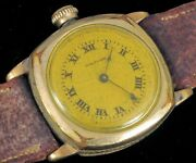 Antique Waltham Wwi Era Trench Transitional Pocket Wristwatch Running Gold Fill