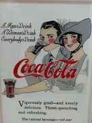 Vintage Coca Cola Reverse Glass Painting Everybodyand039s Drink