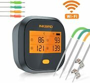 Inkbird Wifi Bbq Meat Thermometer Ibbq4t Digital Rechargeable Grill Smoker Cf