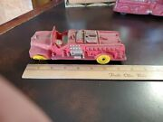 Vintage Hard Rubber Auburn Fire Department 8 Toy Truck Made In Usa