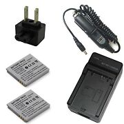 Charger + 2x Battery For Canon Digital Ixus 110 120 Is I Zoom I7 Zoom Wireless