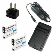 Charger + 2x Battery For Nikon Coolpix S6200 S6300 S8000 S8100 S8200 S9050 S9100