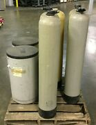 Water Softener System Parts / Includes 5 Tanks And 2 Salt Containers