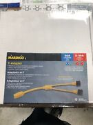 Marinco 153ay Y Adapter 50 Amp 125/250 Volt Male To Two 30 Amp 125 Volt Female