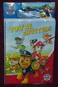 Paw Patrol Party Invitations Envelopes And Thank You Cards Pack Of 8 Ships Free