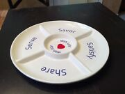 Southwest Airlines Ceramic Tray Luv Heart Serve Savor Satisfy Share Large