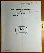 John Deere Beet Cleaning Attachment For 223 Beet Harvester Installation Manual