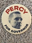 Rare Charles Percy For Illinois Governor Button Pinback Former Us Senator 4 In