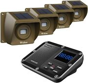 Solar Driveway Motion Sensor Detector Alarm Wireless System Rechargeable Battery