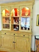 Dining Room Hutch And Chest Combo - Lights Up - Superior Condition