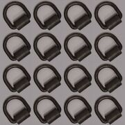 16 Weld-on 1/2 D Rings Tie Down Cargo Flatbed Truck Trailer Ratchet Strap Ring