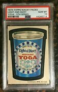 1974 Topps Wacky Packages Light And Dizzy Yoga 5th Series Psa 10 Gem Mint Card