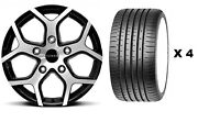 18 Bmf Cobra + Tyres Alloy Wheels Fit Ford Transit Sport 4th Generation 2014