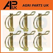 6x 10mm Shaft Locking Retaining Pipe Pin Lynch Tractor Trailer Lorry Digger