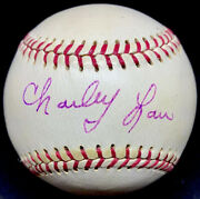 Rare Charley Lau Died 1984 Psa/dna Signed Baseball Player Coach Tigers Yankees