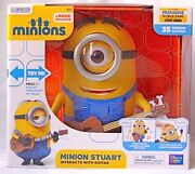 Despicable Me Minion Stuart With Guitar Interactive Talking Action Figures New