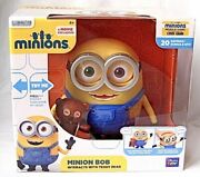 Despicable Me Minion Bob With Teddy Bear Interactive Talking Action Figures New