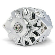 Sap66445.8n Proform Alternator, 80 Amp, Gm 1 Wire Style, Machined Pulley, Chrome