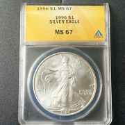 1996-p 1 Silver American Eagle Anacs Ms 67 -ballpark And Send Offer Price