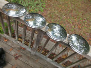 1941-1960 Buick Tri-shield Dogdish Hubcaps Vintage Hub Caps Real Nice