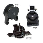 3pcs Front And Rear Motor Mount Fit 2011-2013 Fits Kia Sorento 2wd 2.4l And 3.5l