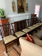 Set Of 6 Stickley Chippendale Mahogany Dining Room Chairs Exc