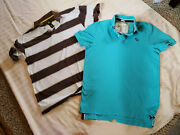 2 Menand039s Pullover Ss Knit Shirts Abercrombie And Fitch John Deere Sz L